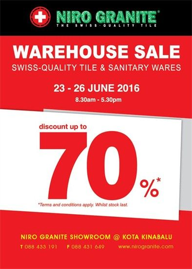 23-26 Jun 2016: Niro Granite Warehouse Sale