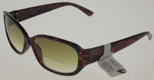 Nine West Oval Sunglasses Brown Tortoise 100%UV Case 60-17-145 Plastic Large NEW