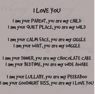 for a baby... awww makes me smile :)