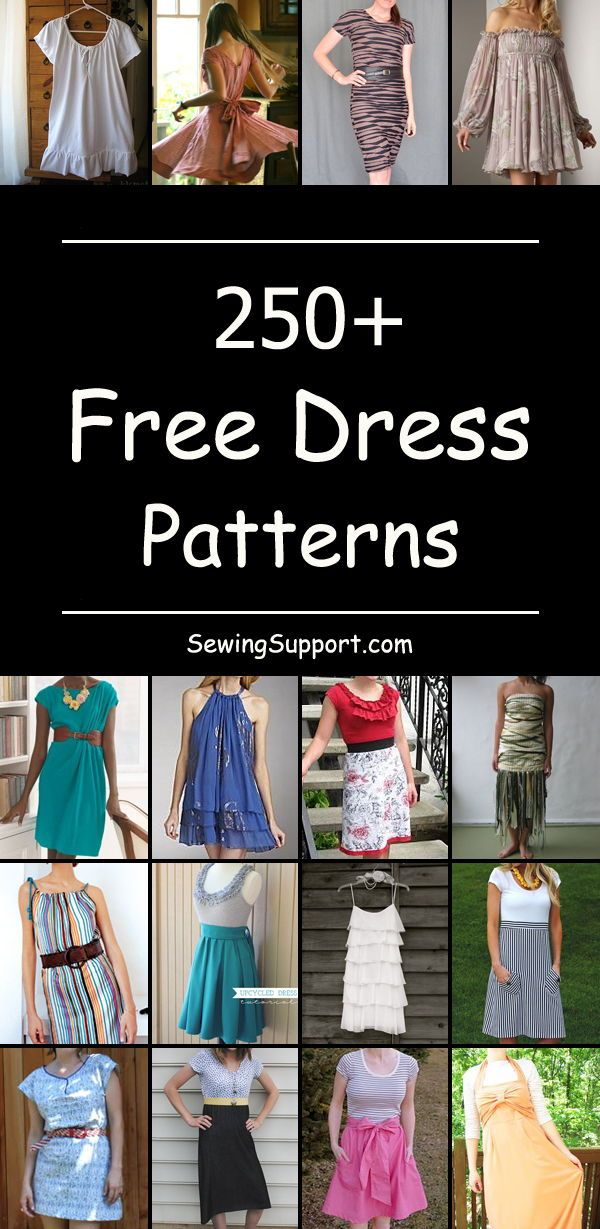 260+ Free Women's Dress Patterns | sewing | Sewing clothes women