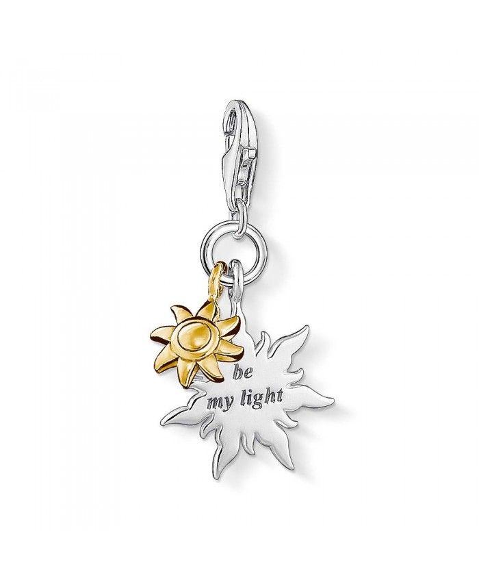 Thomas Sabo Women-Charm Pendant Lotus Charm Club 925 Sterling silver zirconia white 1300-051-14 y4SysZ