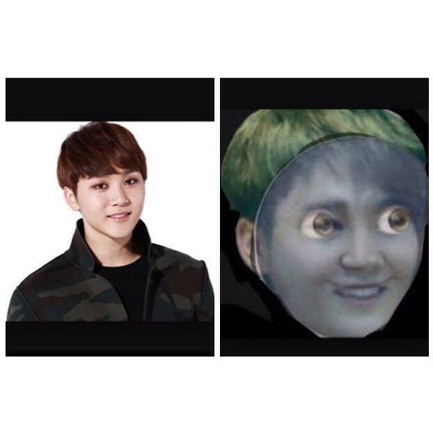 Am I the only one who thinks that seungkwan looks like the moon face emoji? <<< OMG IM DEAD XD
