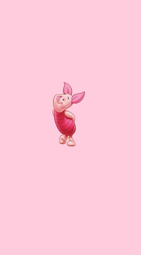 iphone wallpapers - piglet wallpaper pink aesthetic
