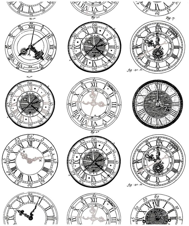 Free coloring page coloring-difficult-anciennes-montres