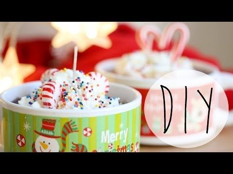 DIY Hot Cocoa Holiday Candle Video DIY