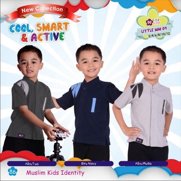 Baju Kemeja Kaos Anak Little Mutif Boy LMB-09 (a)
