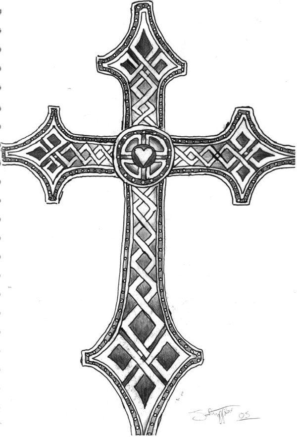 celtic cross   celtric inspired cross tattoo 25 Plead Cross Tattoos For Men