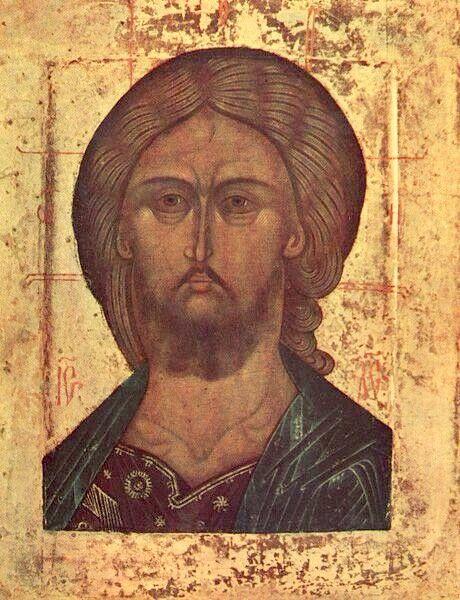 Православная иконография Иисуса Христа. Спас оплечный, Москва, 15 век