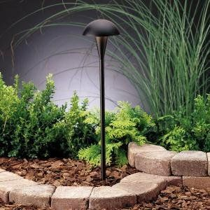 Kichler Lighting 15323BKT Eclipse 1 Light 12 Volt Path U0026 Spread Light,  Textured