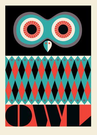 Owl Poster - Stockholm Museum Of Modern Art