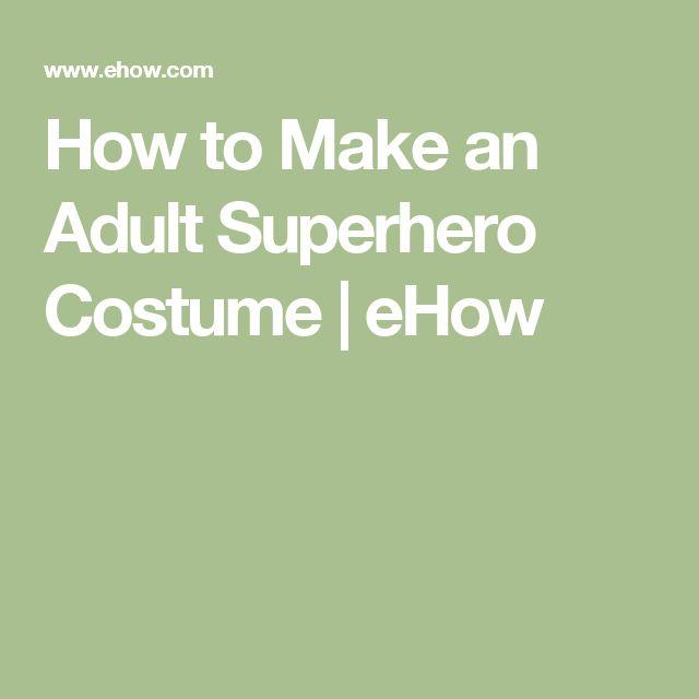 How to Make an Adult Superhero Costume   eHow