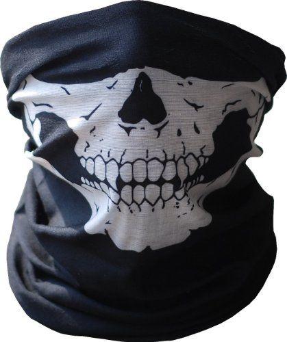 Skull Face Tube Mask Neck Gaiter Dust Shield Seamless Bandana Balaclava Masks . This one is just cool