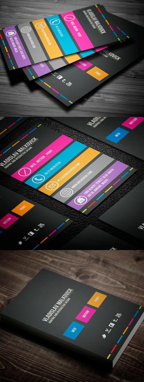 Creative Designer Business Card #businesscards #psdtemplates #printready