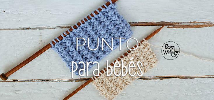 Un punto con textura, para tejer mantas, cojines, almohadones, alfombras e ideal para ropa de bebé en dos agujas, palillos, tricot.…