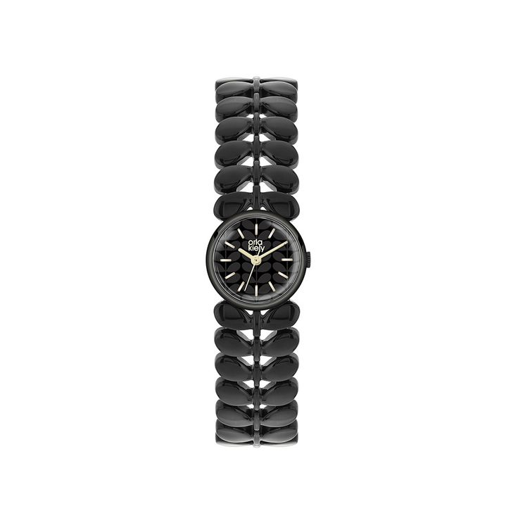 Discover the Orla Kiely Ladies Laurel Watch - Black at Amara