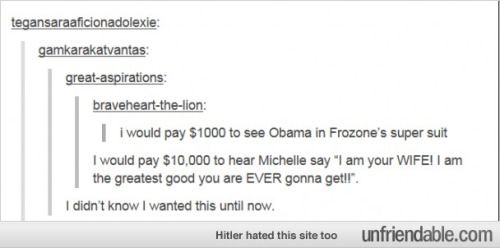 Obama as Frozone http://www.unfriendable.com/Tumblr/Obama-As-Frozone/107295