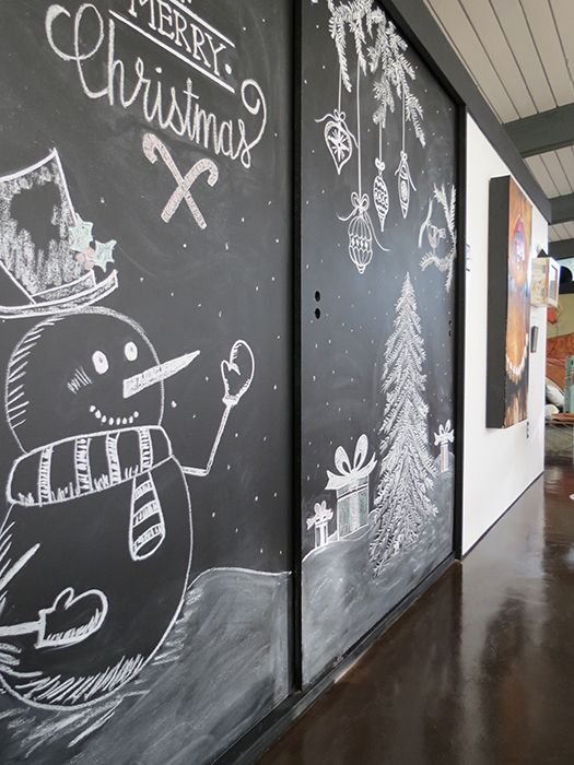 Christmas Chalkboard - agoodehouse.com LOVE THIS!!