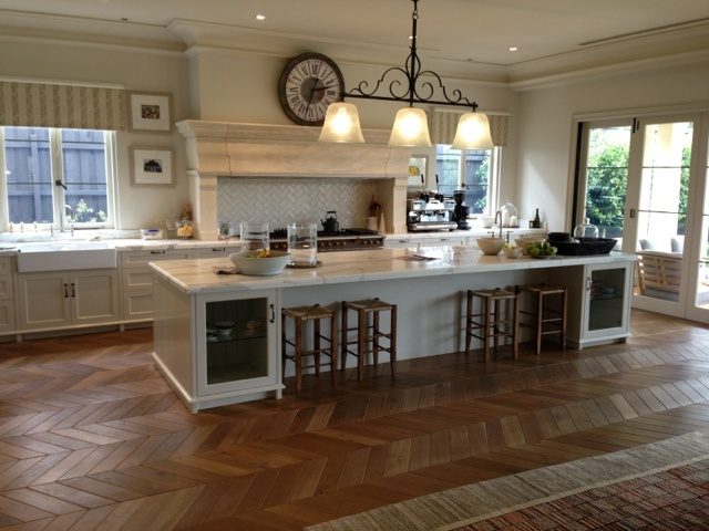 French Oak Chevron/Fumed and oiled - TOORAK