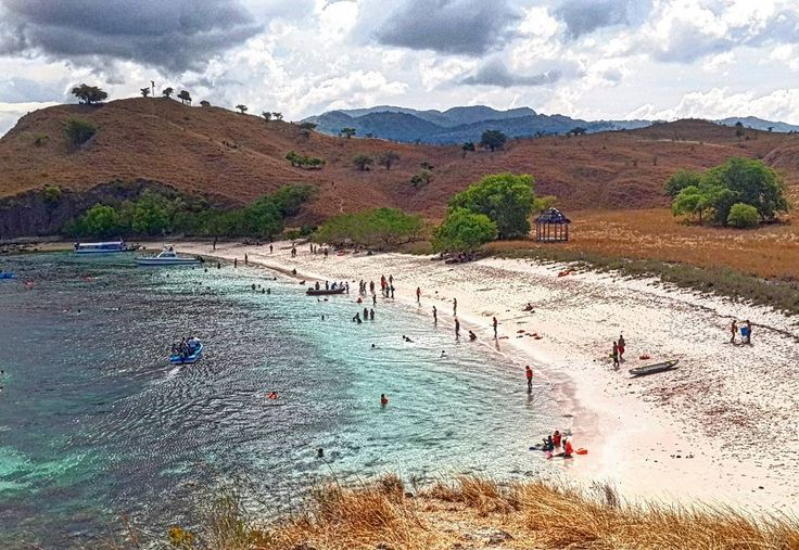Enchanting Indonesia 06.05.2016. Pink Beach.  Flores. Komodo National Park. East Nusa Tenggara.  Blue sky clear water the healthy coral reef and colourful fish perfect for snorkelling is not the only attracN for this wonderful beach. It is also One out of 7 beach with Pink Sand in the World !! The pink sand is formed from pieces of red coral.  If we take a pinch of the sand we will see the pink in between the white sand.  And when the waves sweepes the soft sand and carries it then the sand…