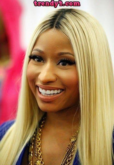 Nicki Minajs Stick Straight Hairstyle 2014