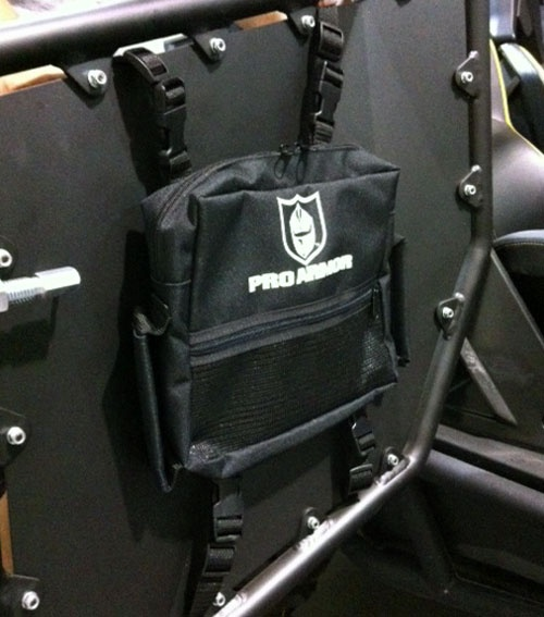 This Pro Armor Door Storage Bag For Commander Rzr 4 Rear Teryx Is A Great Place To Store A Flashlight Gloves Hat And Much More Thi Bag Storage Bags Rzr