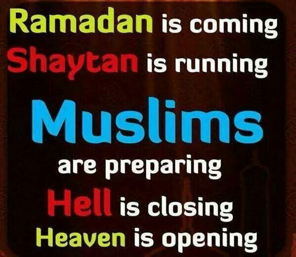 Ramadhan is getting closer; such excitement! :)
