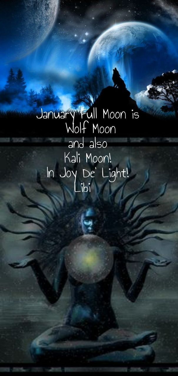 Check out my new PixTeller design! :: January full moon is wolf moon and also kali moon! in joy de...