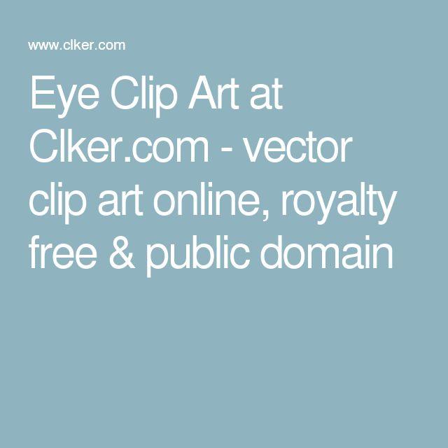 Eye Clip Art at Clker.com - vector clip art online, royalty free & public domain