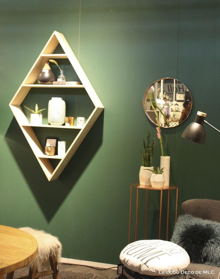 mur vert meraude ses associations dans ma d co le blog deco de mlc couleur d co pinterest. Black Bedroom Furniture Sets. Home Design Ideas