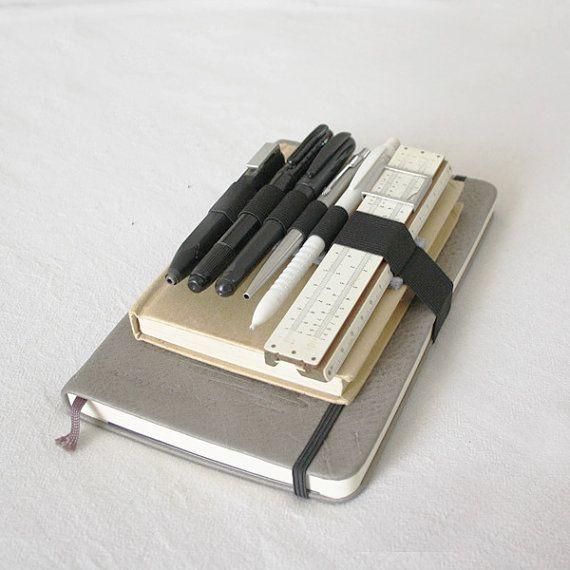 Moleskine Pen holder Journal band felt and elastic, for A5 agenda books diary, pencil case pen holder - Cahier Agenda, travel bag organizer on Etsy, 4,90€