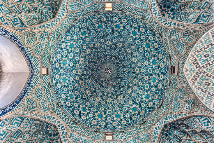 "octopusgirl: ""  Ceiling of Jame Mosque of Yazd, Iran by Damon Lynch Interior of the dome of Jame Mosque, which was first constructed in the 12th century, and reconstructed in the mid-14th century. It..."
