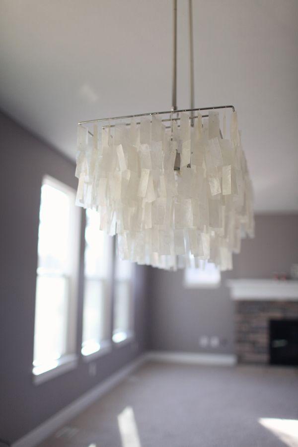 West Elm's capiz shell chandelier.