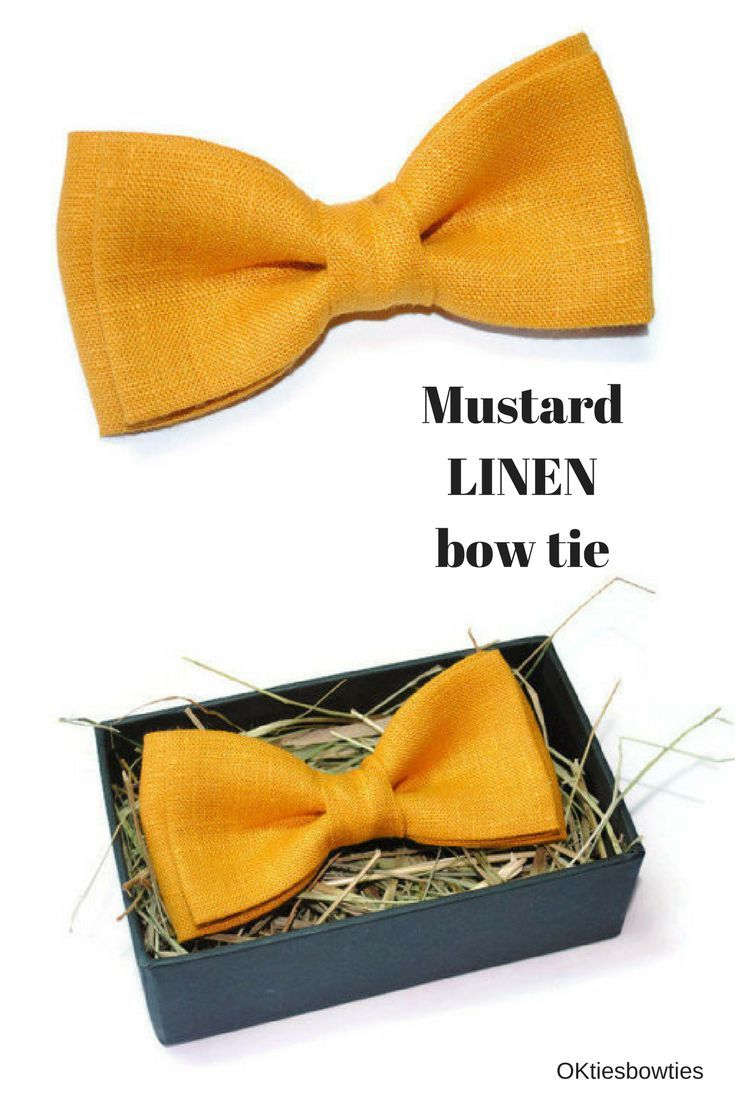 $9,50+ Mustard wedding bow tie Linen bow ties for men Wedding bow tie groom attire Fall wedding bow tie Autumn wedding groomsmen attire Ring bearer bow tie #linen_bowtie #wedding_bowtie #groomsmen_bowties