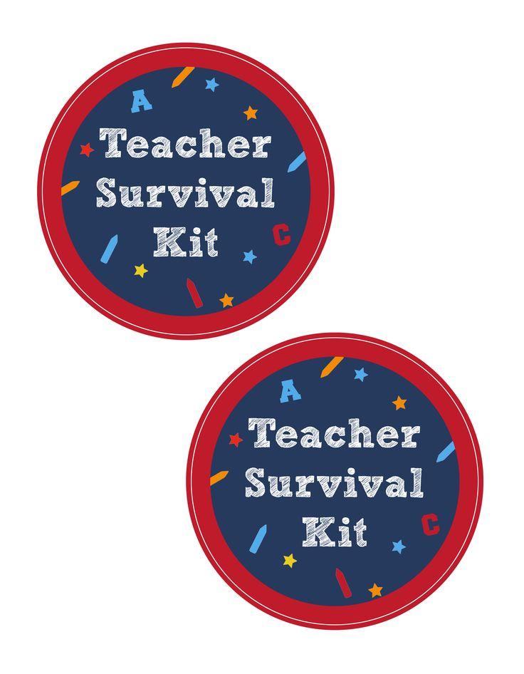 Teacher Survival Kit with FREE Printable/Cameo File