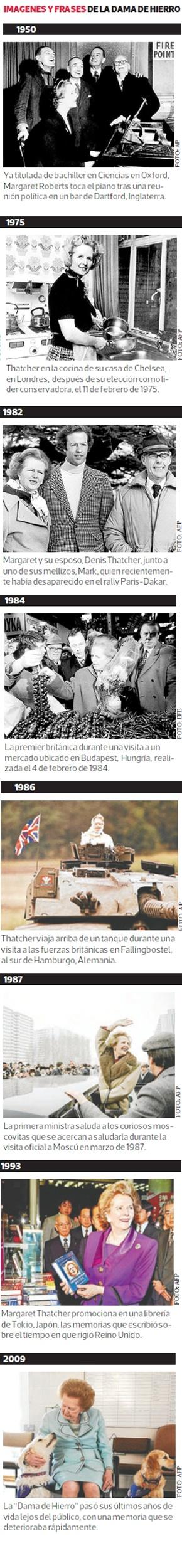 """Imagenes y frases de la """"Dama de Hierro"""" Margaret Thatcher"""