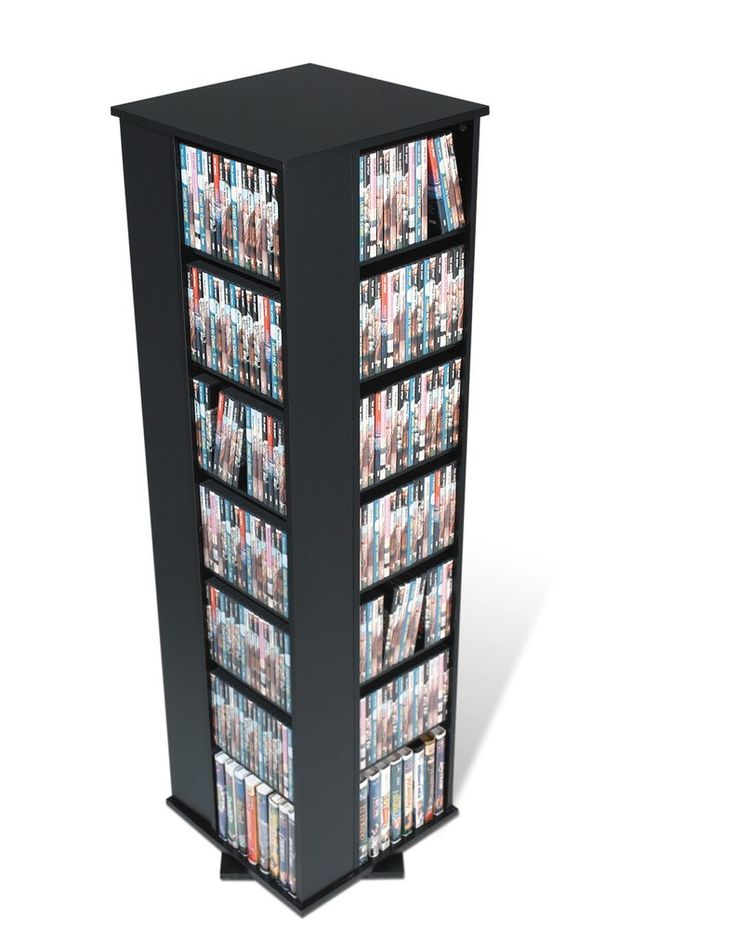 Unique Black Media Storage Cabinet