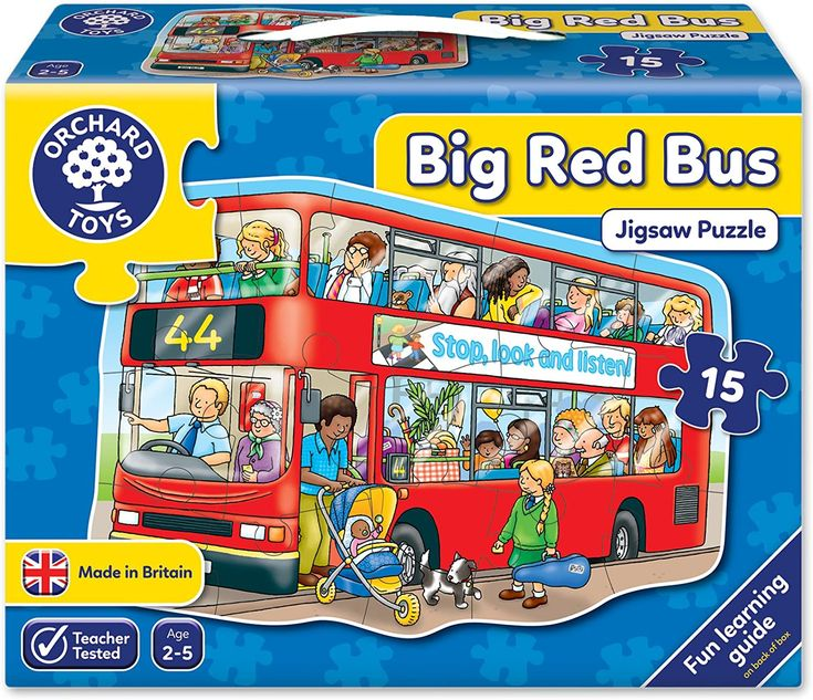 Big Bus Shaped Floor.. in 2020 Big red bus, Orchard toys