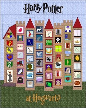 Harry Potter at Hogwarts Castle Quilt--  this site has great paper pieced patterns free for this quilt
