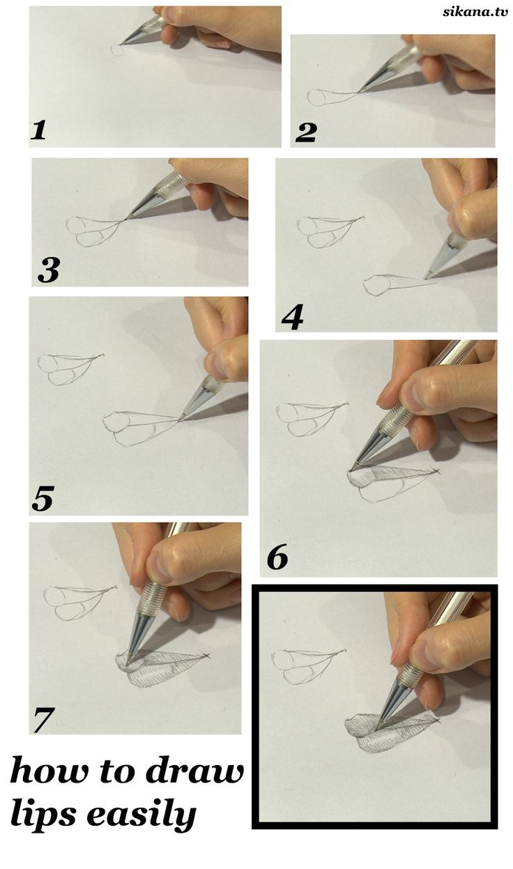 How To Draw Lips In Profile, Drawing Tutorial
