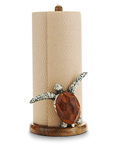A fun take on the traditional paper towel holder A great shower or hostess gift Use this rustic paper towel holder to add something extra to a bistro or country kitchen