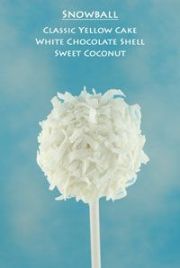 Cake Pop Flavors- this could be the food for the country project! Summery ingredients yet wintery looking.
