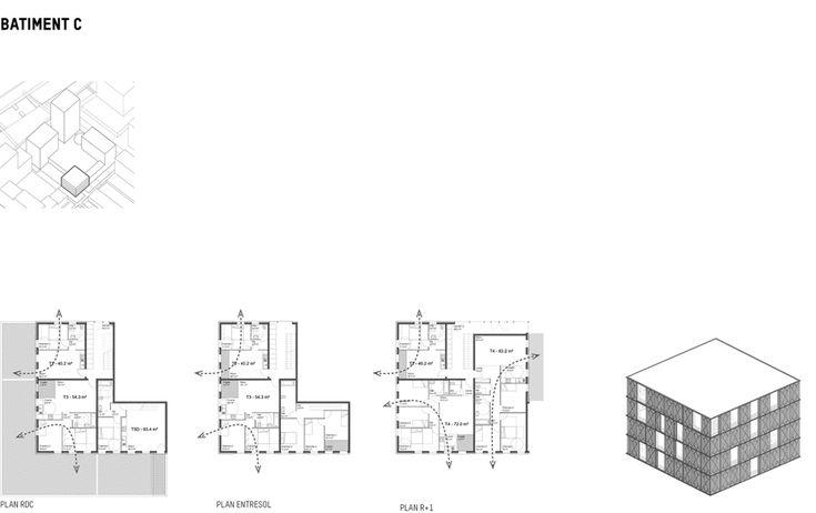 124 logements collectifs