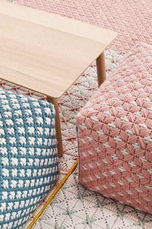 bordado contemporâneo: a marca de tapetes gan busca nas técnicas indianas milenares a inspiração para criar tapetes belos e confortáveis   bamboo