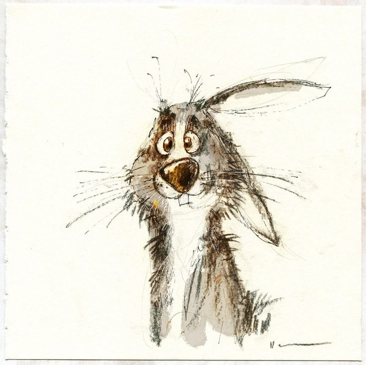 Portrait of confused bunny (by Dainius Šukys)