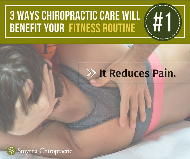 #WorkoutWednesday: How does chiropractic care benefit your fitness routine? Reason #1: It can minimize pain and reduce soreness after a workout. When your spine is out of alignment it can cause pain all over your body – back, neck, joints, etc. Spinal manipulation will help you get back at it more quickly with less risk of injury or pain.  Call 615-220-6824. #smyrnatn #chiropractor