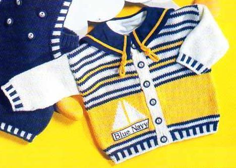 [Tricot] Le cardigan Navy - La Boutique du Tricot et des Loisirs Créatifs