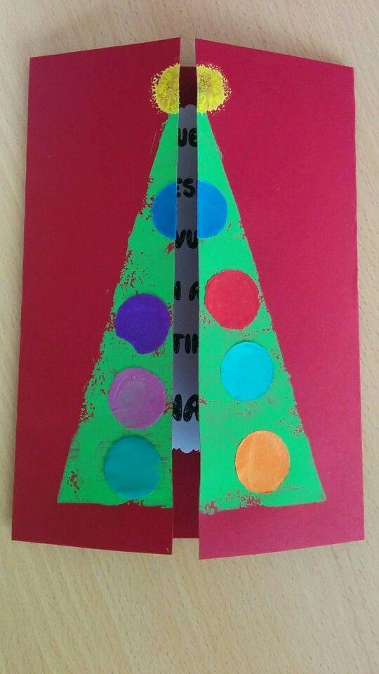 Postal, Christmas, Nadal, Navidad, arbol, cristmas tree, educacion infantil