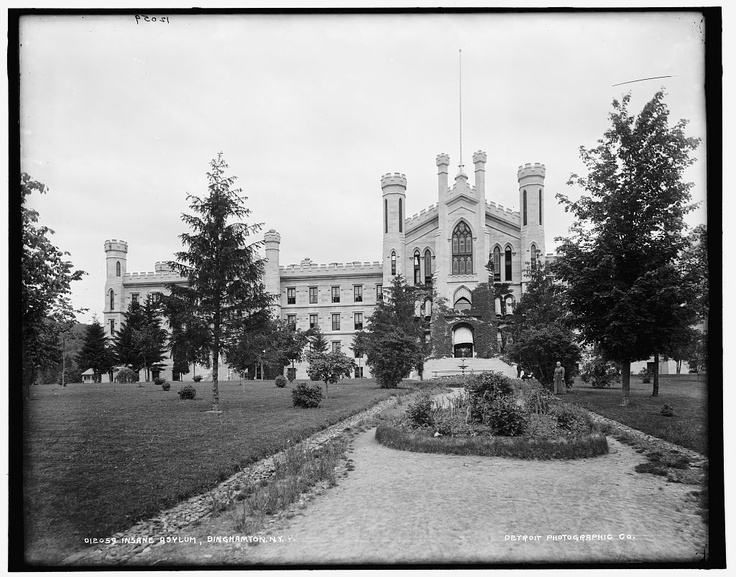 Insane asylum, Binghamton, N.Y.; ca 1890-1901