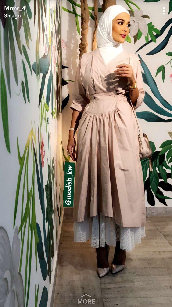 Pin By Hind Naji On Muslim Fashionistas Hijab Fashion Abaya Fashion Fashion