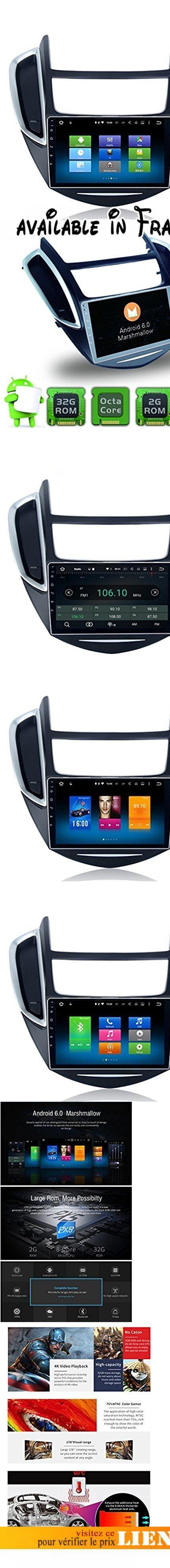 Roverone 9 Pouces Android 6.0 Octa Core pour Chevrolet Trax 2013-2016 de voiture radio avec navigation GPS Bluetooth stéréo Miroir Link Full écran tactile. Ce modèle est spécial pour Chevrolet TRAX 2013-2016; ce modèle ne peut pas accueillir la voiture avec navigation GPS d'origine;. Avec Android 6.0du système, un écran tactile 22,9cm Full, 8-Core 64bit RAM 32Go ROM 2G; sans fonction de DVD/CD;. 4K vidéo plaback: haute perfomance Rockchip